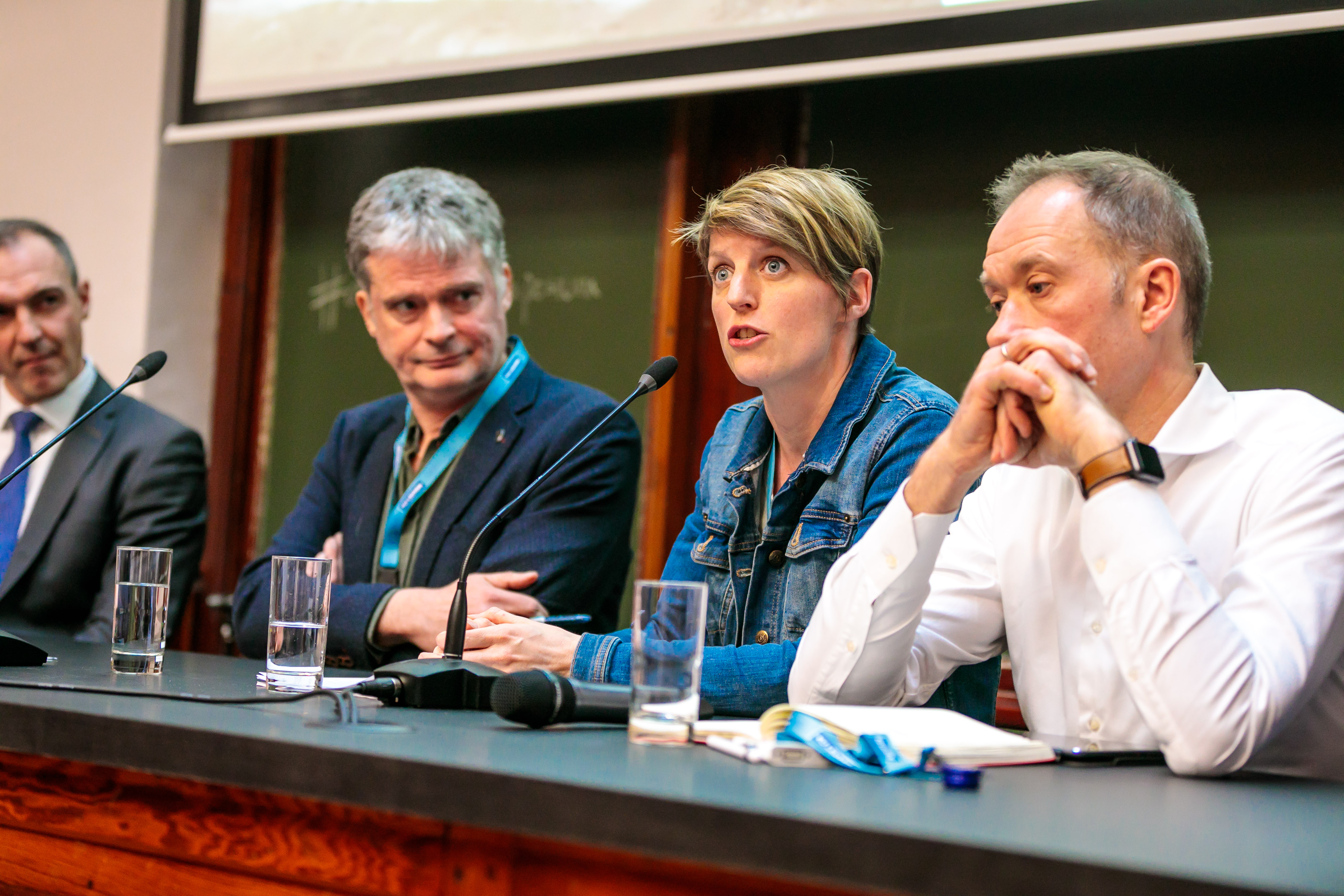 From left to right: Peter Standaert (Ecowerf), Katrien Rycken (Leuven 2030), Serge de Gheldere (FutureProofed) (credits image: Nicolas Herbots)