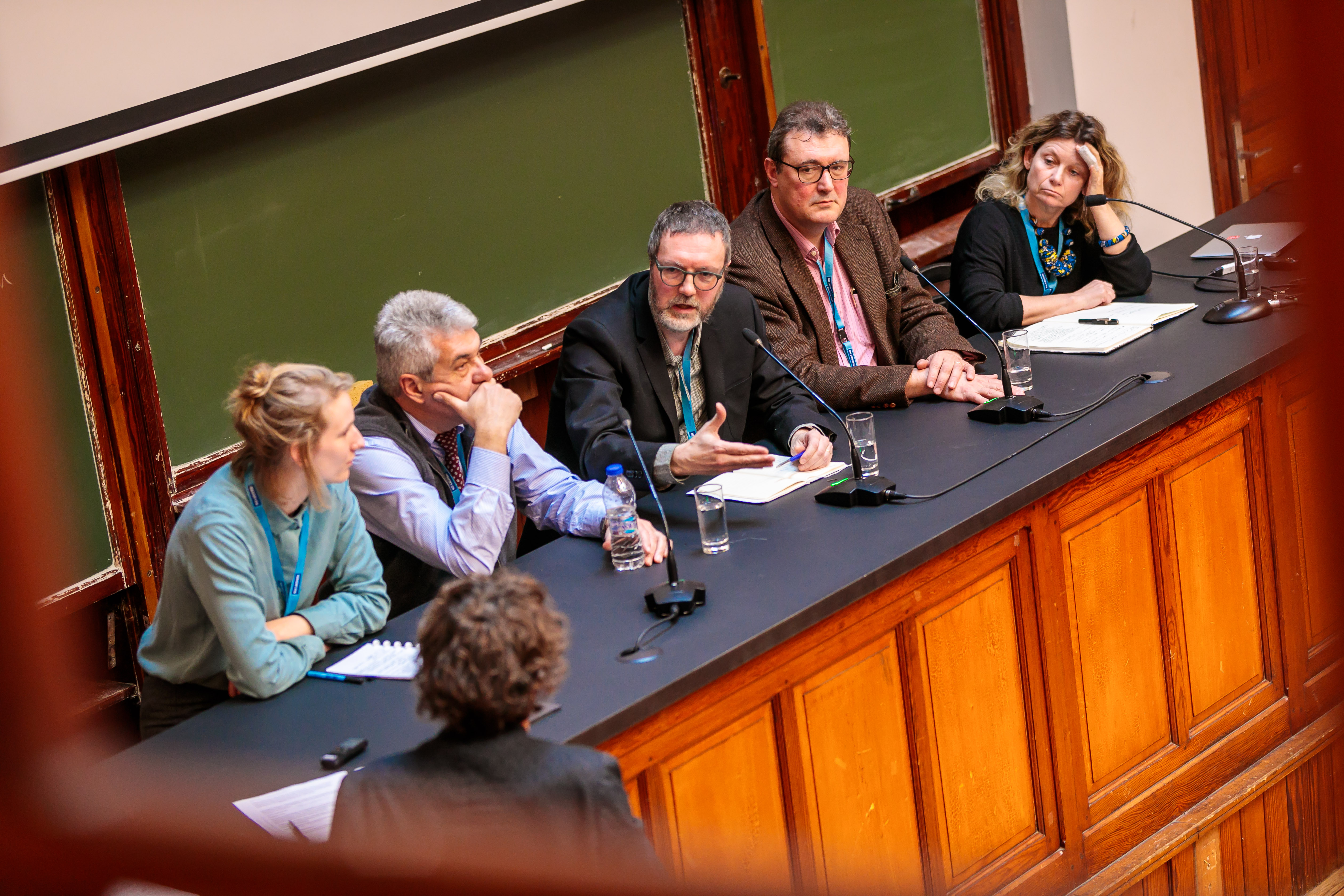 From left to right: Marieke Meesters (Wageningen U.), Kostas Komnitsas (METGROW+), Karel Van Acker (KU Leuven), Egbert Lox (Umicore), Leida Rijnhout (Friends of the Earth Europe) (credits image: Nicolas Herbots)
