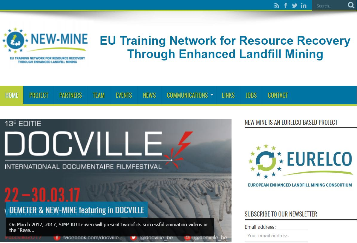 EU H2020 ETN MSCA NEW-MINE