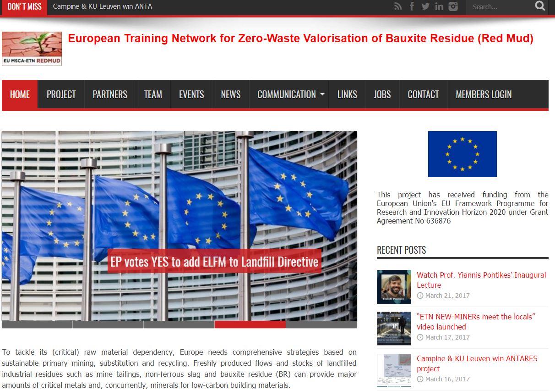 EU H2020 ETN MSCA REDMUD