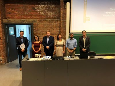 Dzenita Avdibegović receiving her PhD at KU Leuven for her work on REE recovery from bauxite residue