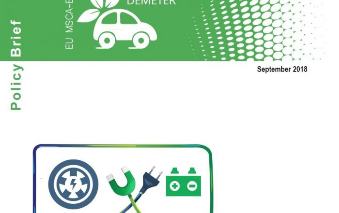 Image cover DEMETER Policy Brief on EV industry