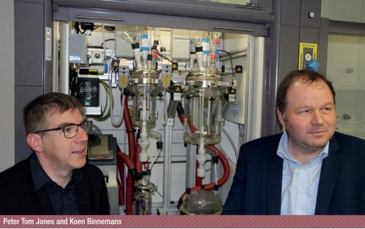 Photo Jones (left) and Binnemans (right) on Science for Society