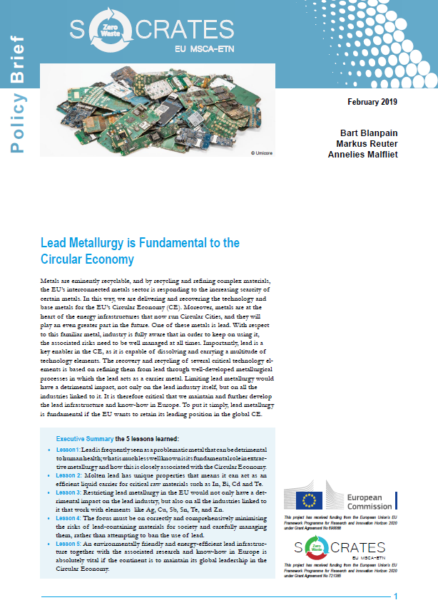 Cover Lead Metallurgy Policy Brief 2019